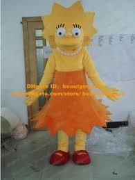 Simpsons Halloween Costumes Pretty Yellow Lisa Simpson Mascot Costume Mascotte Lassock