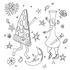 free coloring pages weed and stoner coloring pages glum me