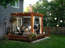 Patio Deck Cost by Deck With Pergola Design Deck With Pergola Designs Cost To Build