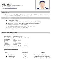 Contoh Resume Offshore Resume For Apprentice Deck Cadet Eliolera Com