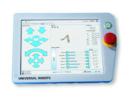 the universal robots tpu teach pendant unit is very user