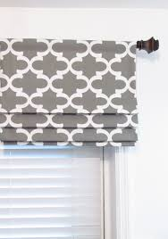 Gray Valance Quatrefoil Faux Roman Shade Lined Fake Roman Shades Fynn Storm