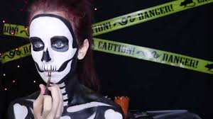 Halloween Skeleton Make Up by Neon Glow In The Dark Skeleton Makeup Tutorial Spirit Halloween