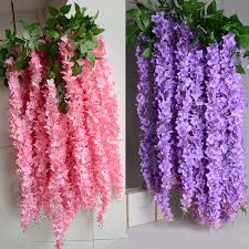 wedding garlands online 1 6m artificial wisteria flower rattan vines garlands silk flower