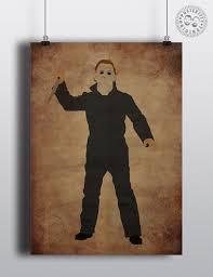 michael myers halloween minimalist horror movie poster