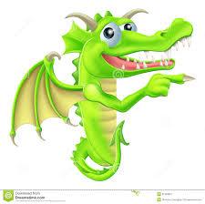 cartoon dragon peeking round sign royalty free stock photography