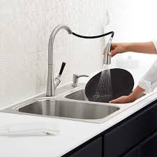 kitchen sink and faucet combo kohler stainless steel sink and faucet package