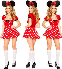 Minnie Mouse Halloween Costumes Adults Women Minnie Mouse Costume Polka Dot Disney Cartoon Halloween