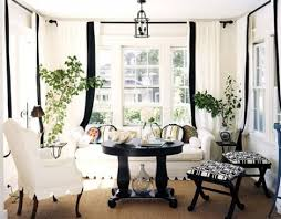 Black Ivory Curtains Stunning White Curtains Black Trim And Ivory Curtains With Black