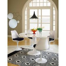 Dining Room Table White Amazon Com Modway Lippa 5 Piece Fiberglass Dining Set In Black