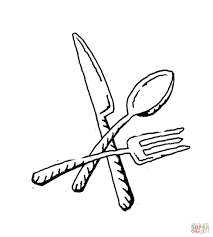 Kitchen Forks And Knives Fork Coloring Page Free Printable Coloring Pages