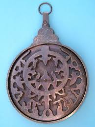 brass engraved astrolabe