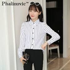 phalinovic 2017 autumn winter women blouses stylish white shirt