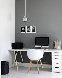 Two Tone Gray Walls by A Merry Mishap Office Grey