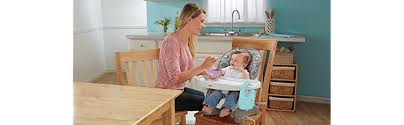 How To Sleep In A Chair Amazon Com Fisher Price Spacesaver High Chair Luminosity Baby