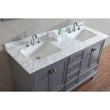 stufurhome hd 7130 newport 60 double sink bathroom vanity with