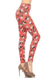 red patterned leggings plus size leggings only leggings