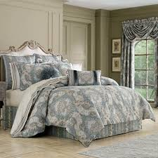 Best 10 Blue Comforter Sets by J Queen New York Crystal Palace French Blue Comforter Set King
