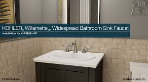 Widespread Bathroom Sink Faucet Installation Willamette Widespread Bathroom Sink Faucet Youtube