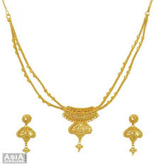 double necklace set images 22k layered chain necklace set ajns55189 filigree make elegant jpg