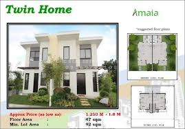Twin Home Floor Plans Amaia Scapes Cdo By Ayala Land Marianita Ellonor
