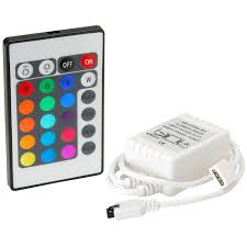 Led Light Strip Controllers by Le Ll19111 24 Key Led Control Unit With Ir Remote Control