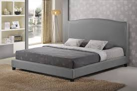 King Size Wood Headboard Tufted Platform Bed King Size In Wood Materials Bedroom Ideas