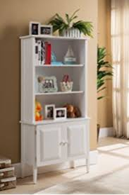 Bookcase With Doors White Sauder 417593 Cottage Road Library With Doors Soft