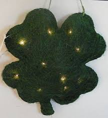 lighted shamrock sculpture 3d solid st patrick u0027s day irish home