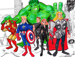coloring pages of the avengers avengers doodlehoose