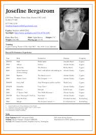 How To Write A Dance Resume How To Write A Resume For Acting How To Write A Dance Resume For