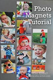 photo magnet tutorial great stocking stuffer idea super easy and
