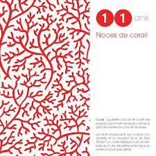 11 ans de mariage noce de corail patcreativ faire part