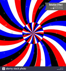 Spin Flag Optical Illusion Vector 3d Art Rotation Dynamic Effect Spin