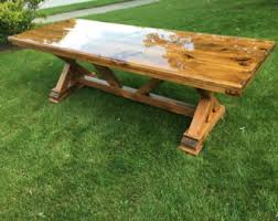 Rustic Kitchen Table Etsy - Rustic kitchen tables