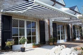 Red And White Striped Awning Simple Details Black And White Awnings