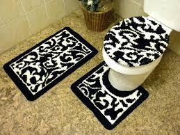 Black And White Bathroom Rugs Bath Rug Sets Kulfoldimunka Club