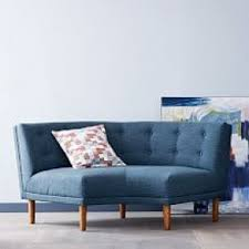 Retro Sectional Sofas Rounded Retro Sectional West Elm No Place Like Home