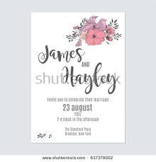 flower wedding invitation card template vector stock vector