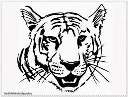 free printable animal tiger coloring pages with tiger coloring
