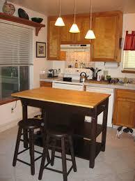 small kitchen island with stove ideas gray exposed brick concrete