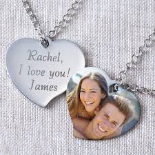 personalized photo pendant necklace personalized heart photo pendant walmart