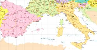 Spain Map World by Map Of France And Italy Recana Masana