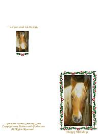 printable horse christmas cards free printable birthday cards of fuss it will also fit our