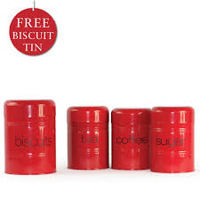 kitchen canisters red latest vintage french red enamel set of