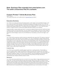 sample business plan for startup business plan cmerge