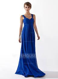 empire sweetheart floor length chiffon bridesmaid dress with