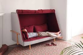 Orwellian Cabin Sofa A Private Blanket Fort For Adults - Lying sofa 2
