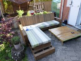 Patio Furniture Made From Wood Pallets by Complete Pallet Sofa Made Out Of 9 Recycled Pallets U2022 1001 Pallets