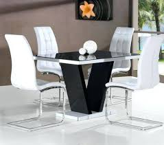 Black Gloss Dining Room Furniture Black And White Dining Table Artcercedilla